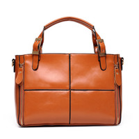 Wholesale Tiding Leather Bags - New Genuine leather bags and leather stitching all-match tide brand Shoulder Handbag cross fashion bag QG02243