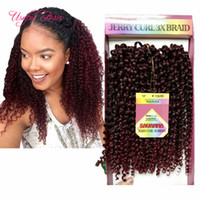 Wholesale ombre curly braiding hair online - SAVANA crochet curly twist pack kinky curly Free tress ombre bug jerry curly inch synthetic braiding hair freetress marley