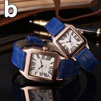 Wholesale Strap For Couples - luxury brand couple men women watches Fashion Leahter strap quartz watch for lovers mens ladies best gif dress wristwatches Wtach relogios