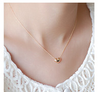 Wholesale Exo Chain - Wholesale-NK423 Colar Exo Bijoux Collier Vintage Maxi Gold Plated Heart Pendants Necklaces For Women Wedding Jewelry Wholesale Collares