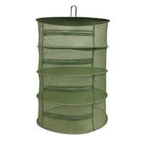 "Wholesale vinyl 24 - 24""D x 35.5""H Drying Net 4 Layer With Zippers Herb Drying System Net Plant Herb Drying Rack Hanging Net"