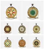 Wholesale Vintage Nautical Compass - Hot Selling Nautical Compass Vintage Inspired Photo Pendant Necklace,nautical compass steampunk pendant Jewelry