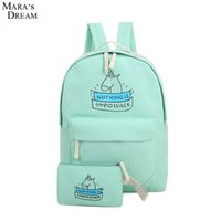 Wholesale Pretty Backpacks - Wholesale- Mara's Dream 2016 Emoji Backpack Pretty Style Women Canvas Emoji Face Printing Double Zipper School Bag For Teenagers Girls