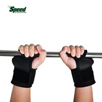 Wholesale Weight Lifting Wrist Support Hook - Wholesale- 2017 Hot Selling Adjustable Fitness Wrist Support Weight Lifting Hooks Sport Training Gym Grips Straps Support Gloves