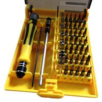 Wholesale Tv Repair Wholesaler - Wholesale- 45 in 1 Screw-Driver Repair Tool Set Torx Precision Screw Driver Tweezers for TV PC  mobile phones watches