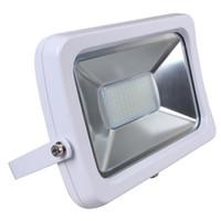 luces de inundación llevadas smd al por mayor-10W 20W 30W 50w Led delgado impermeable luz de inundación blanco / negro Shell SMD y COB LED chip al aire libre reflectores de pared
