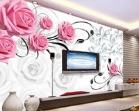 Moda 3D Home Decor Bella 3D Stereo Rose Vine TV sfondo parete pittura decorativa