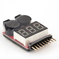 Wholesale Lipo Battery Tester Buzzer - for 1-8S Lipo Li-ion Fe Battery Voltage 2IN1 Tester Low Voltage Buzzer Alarm Hot Selling