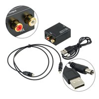 Adaptador Audio Toslink Kaufen -Großhandels- neuer Digital-zu Analog-Audio-Konverter-Adapter Digital Adaptador Optisches koaxiales RCA Toslink Signal zum analogen Audiokonverter RCA