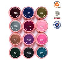 Wholesale Colour Gel 12 - Wholesale- #30611C Free Shipping CANNI Led uv Pure Gel Colour Soak Off,12 Color CANNI elegant led&uv gel