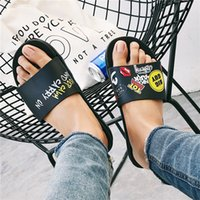 outdoor hot shower - Men and women fashion sandals slippers sliding box hot designer flower printed unisex beach slippers best quality a