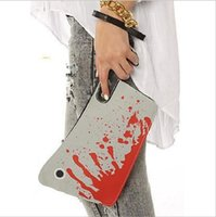 Bloody Cleaver Hatchet Halloween Horror Embrayage Purse PU Sac à main Cleaver Embrayage Hot Sale 12PCS YYA220