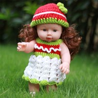 Wholesale China Baby Girl Clothes - 30cm pure handmade sweater clothes plastic fairy baby doll 12inch vinyl girl dolls for gift