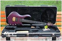 Wholesale Electric Guitar Musicman - Wholesale-MusicMan Petrucci Artisan MAJESTY electric guitar Purple,Ebony fringerboard,6strings,HH Active pickups,Golden hardwares!