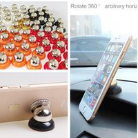 Wholesale Gps Box Packing - Magnet phone holder car mount 360 rotary magnetic mobile stand stent stick holders with retail pack box for iphone 7 ipad gps galaxy s8 plus