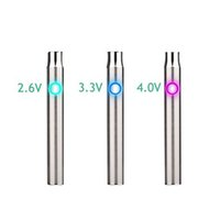 Wholesale Rapid Green - variable voltage battery 510 thread 400mah rapid pre-heat battery 2.6V 3.3V 4.0V Battery for CE3 green oil cartridge vape 8807