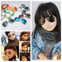 Wholesale Kids Girls Aviator Sunglasses - Kids Sunglasses Aviator Style Design Children Sun Glasses Anti UV400 Protection Retro Sunglasses 10 colors YYA701
