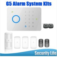 Wholesale Touch Gsm Alarm Access - LS111- 165kit 315MHZ Chuango G5 Touch Keypad GSM SMS Wireless Home Security Burglar Alarm System RFID Access Control 315MHZ