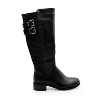 Wholesale Cheap Wholesale Tall Boots - SH1303 leather tall knee leather buckle boots high quality sexy knee high boots cheap fashion women's tall boots size 37-43