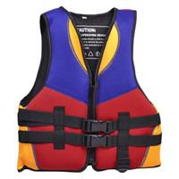 Wholesale Wholesale Vest Jacket Men - Wholesale- HOT Red Blue Orange Water Life Jacket Vest Size S for Children