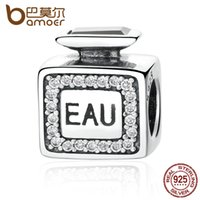Wholesale Eau Women - Wholesale-BAMOER Classic 925 Sterling Silver EAU Perfume Charms for Women Bracelets Necklaces Gift Fine Jewelry PAS343