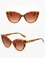 Wholesale Curved Sunglasses - Most Fashion Women Butterfly Sunglasses Outdoor Beach Curve Casual Simple Style Big Frame Goggle Cat Eyes Sunglasses A18