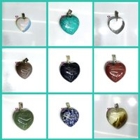 gems animals Australia - New Fashion Natural Stone Heart Pendant Necklaces Turquoise Crystal Gem Statment Jewelry Christmas Gift for women free shipping