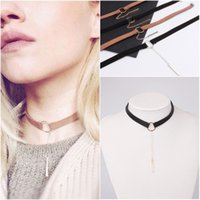 Marrone Nero Choker Collana Donna Oro / argento placcato velluto Choker Chocker Bar Stick Necklace 2017 collier ras du cou