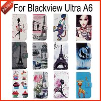 Wholesale Cartoon Design Wallet Case - For Blackview Ultra A6 Book-Design PU Leather Case Fashion Patterns Flip Cartoon Cover Skin Colorful Painted In Stock