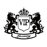 Wholesale Vip Decal Stickers - Hot Sale Car Sticker Classic Car Accessories Modification Car-styling Vinyl Decal Two Lions Vip Car Covers Whole Body