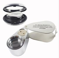 Wholesale Metal Magnifying Loupe - Hot Selling Watch Repair Tool Metal Jeweller LED Microscope Magnifier Magnifying Glass Loupe UV Light With Plastic Box 40X 25mm