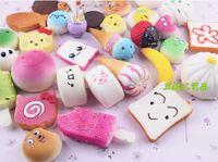 Wholesale Gift Bag Big - HOT!!!10PCS Bag Squishy Kit Bread Scented Doughnut Toast Cone Hamburger Phone Straps Kids Gift