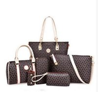 Wholesale Synthetic Leather Handbags Wholesale - high quality 6pcs lot Women Ms. girl embossed handbags shoulder bags messenger bags purse wallets new fashion handbag shoulder bag Messeng