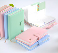 Wholesale Schedule Book - Wholesale- New Arrival Weekly Planner Sweet Notebook Creative Student Schedule Diary Book Color Pages School Supplies No Year Limit