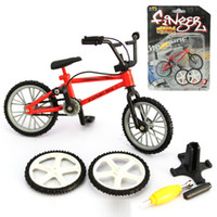 Wholesale Bicycles For Children - NEW Alloy mini BMX Finger Mountain BikesToys Retail Packaging mini-finger-bmx Bicycle Creative Game Gift for children toys