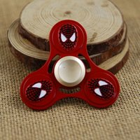 Wholesale Cheap Metal Stars - 60Pcs Cheap The Avengers Fidget Spinners Metal Triangle Spinning Top EDC Finger Toy Desk Focus Toys For Kids Stars Handspinner DHL Free