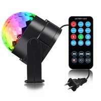 lumières de scène led Disco Ball DJ Lights - Lumières activées par le son avec télécommande RGB Strobe Lamp Stage Light pour Home Dance Birthday Bar