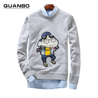 Wholesale Tracksuit Women Big Sizes - Wholesale- Big size 5xl 2016 New Spring Autumn Harajuku Thin Crewneck Sweatshirts Teen anime pullover Men Women Lovers Clothes Tracksuit