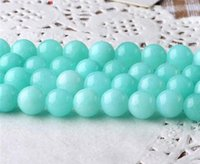 Wholesale Natural Blue Chalcedony Bracelet - natural manual DIY Tianhe stone Chalcedony beads 4mm 6mm 8mm 10mm 12mm 14mm jade Tianhe stone Jade Bead Fit Bracelet Necklace