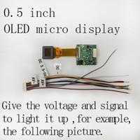 micro écran vidéo achat en gros de-micro-écran couleur 0.5 pouces 1024 * 768 haute résolution OLED haute résolution monté sur la tête d'affichage de visionneuses visionneuses de lunettes vidéo / FPV écran d'affichage