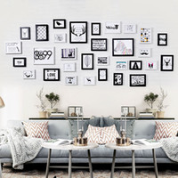 Wholesale Picture Frame Wall Modern - Living Room Photo Wall Frame Large Area Nordic Modern Simple Style Picture Wall Decoration Rectangle 31pcs   set