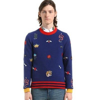 Wholesale Warm Sweaters Men - 2017 autumn and winter warm men sweater high quality pure sweater animal printing patterns European and American brand style men