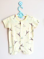 Wholesale Cheap Sleeve Jumpsuits - BABY summer ROMPER NEW BORN INFANT ONE PIECE JUMPSUIT 100% COMBED COTTON HIGH QUALITY CHEAP PRICE SUMMER ROMPER 3 SIZE A LOT A HAND