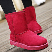 Wholesale Thick Warm Half Slips - The New Winter Snow Boots Warm Short Boots Female Short Tube Thick Cotton and Cotton Padded Shoes Female