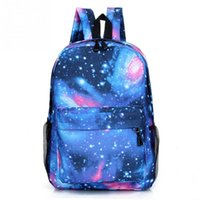 New Unisex Polyester Teenager School Bag homens mulheres Livro Campus Travel Backpack Star Sky Printed Backpack