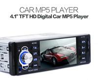 mp5 hd oynatıcı toptan satış-Evrensel YT-4016C 12 V 4.1 Inç Bir Din TFT HD Dijital Araba MP5 Çalar Yüksek Çözünürlüklü video oynarken FM Radyo ile USB SD AUX Arayüzleri