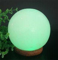 Wholesale Natural Led Candle - Wholesale natural shaped USB light Himalaya crystal salt lamp with on-board computer Rock Salt Bowl Lamp with Salt Chips