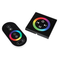 Wholesale Remote Terminal - Wholesale- Wireless Terminals RGB Controller Touch Panel RF Remote Control For colorful LED Strip DC12-24V Simple operation