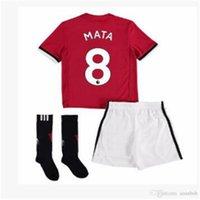 Wholesale Wholesale El Shirts - 2018 POGBA ibrahimovic man Utd football shirt 17 18 high quality union home 3RD Rooney Rashford MATA Mkhitaryan football shir