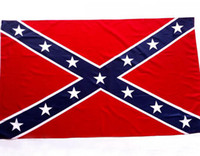 Wholesale National Wholesale - The Truth About the Confederate Battle Flags Two Sides Printed Flag Confederate Rebel Civil War Flag United States National Flag KKA1866